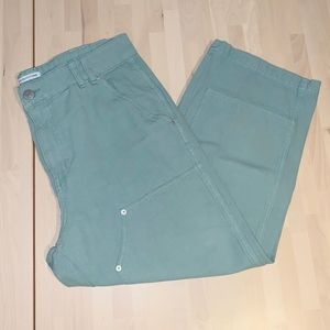 Urban Outfitters Green Straight Pants with Studs